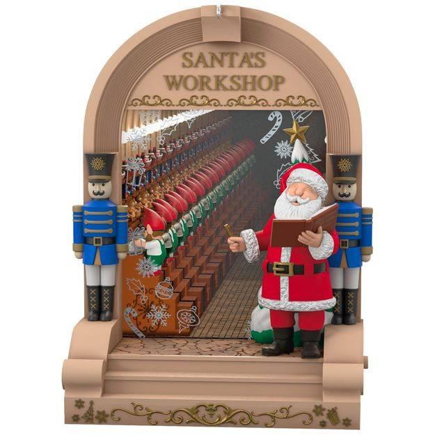 2017 Santa S Workshop Hallmark Magic Ornament Hooked On