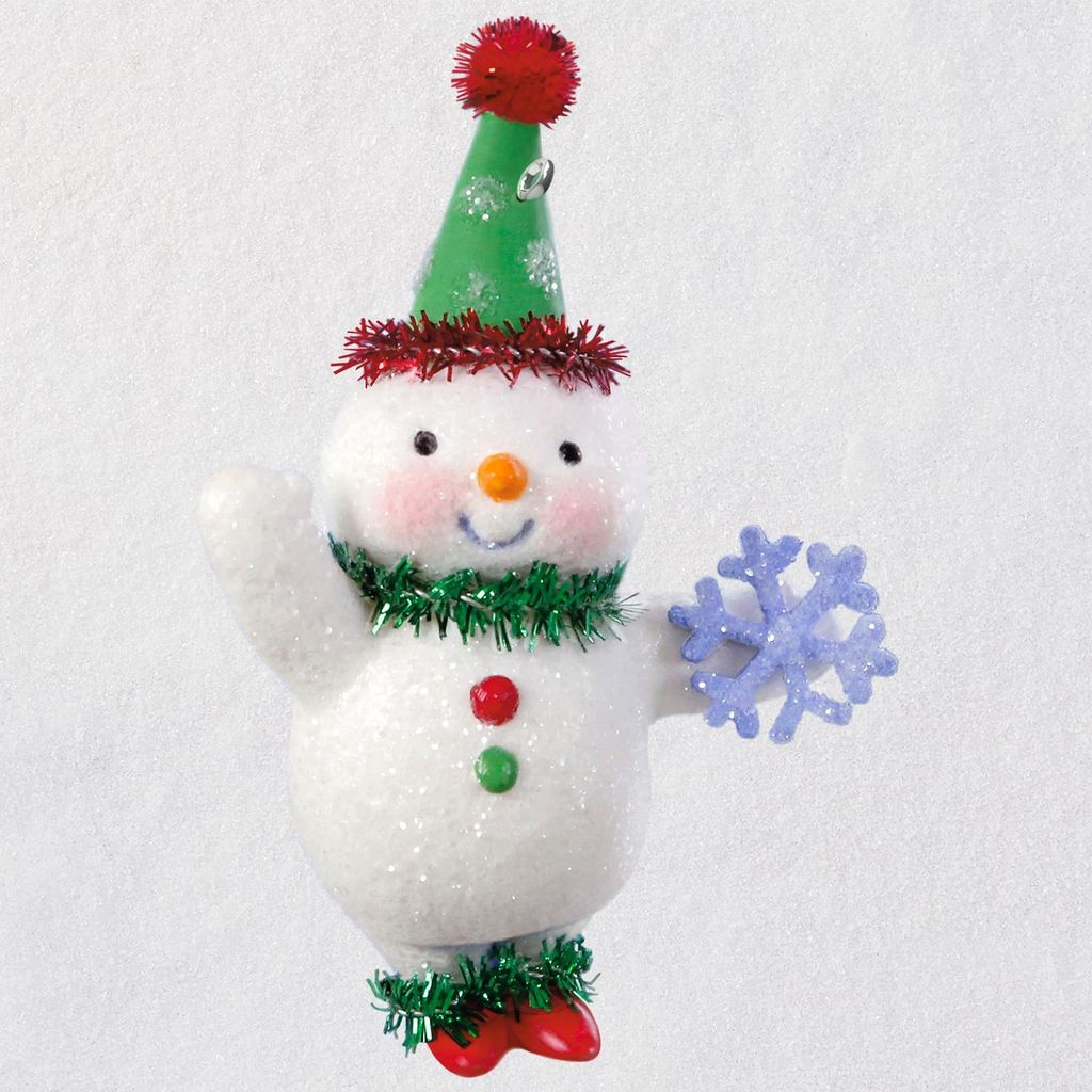 2018 Vintage Snowman Hallmark Christmas Ornament - Hooked ...