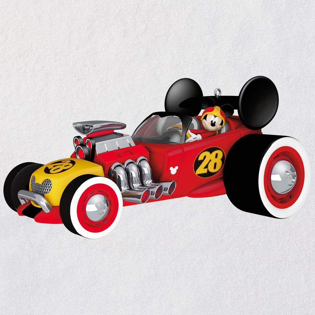 Hallmark 2018 Mickey Roadster Racers Mickey Mouse Christmas Ornament New Red Box