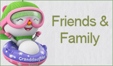 2018 Hallmark Family & Friends Ornaments