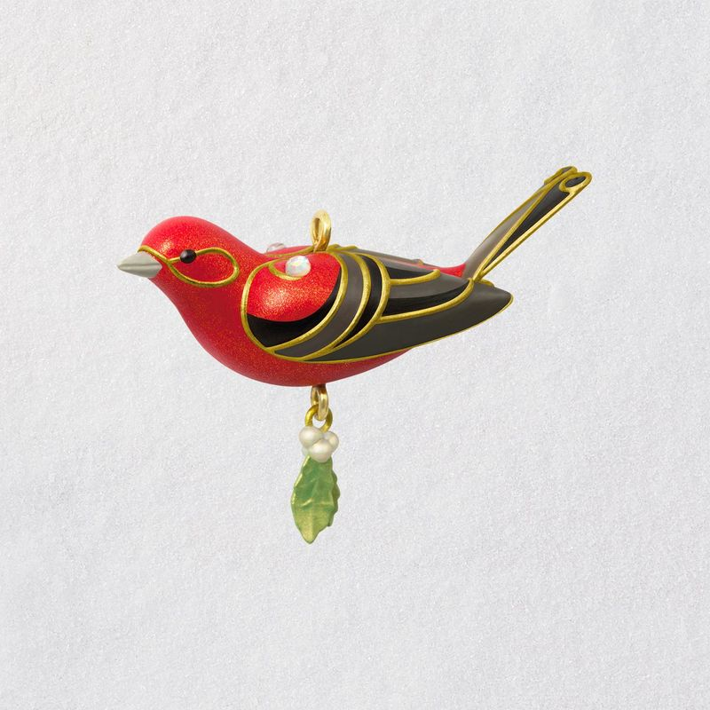 2018 Beauty of Birds, Red Tanager, MINIATURE