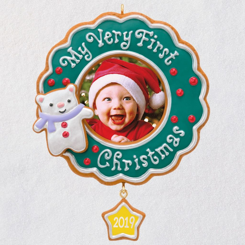 Hallmark Christmas In July 2019 Ornaments.2019 Baby S Very First Christmas Ships July 15