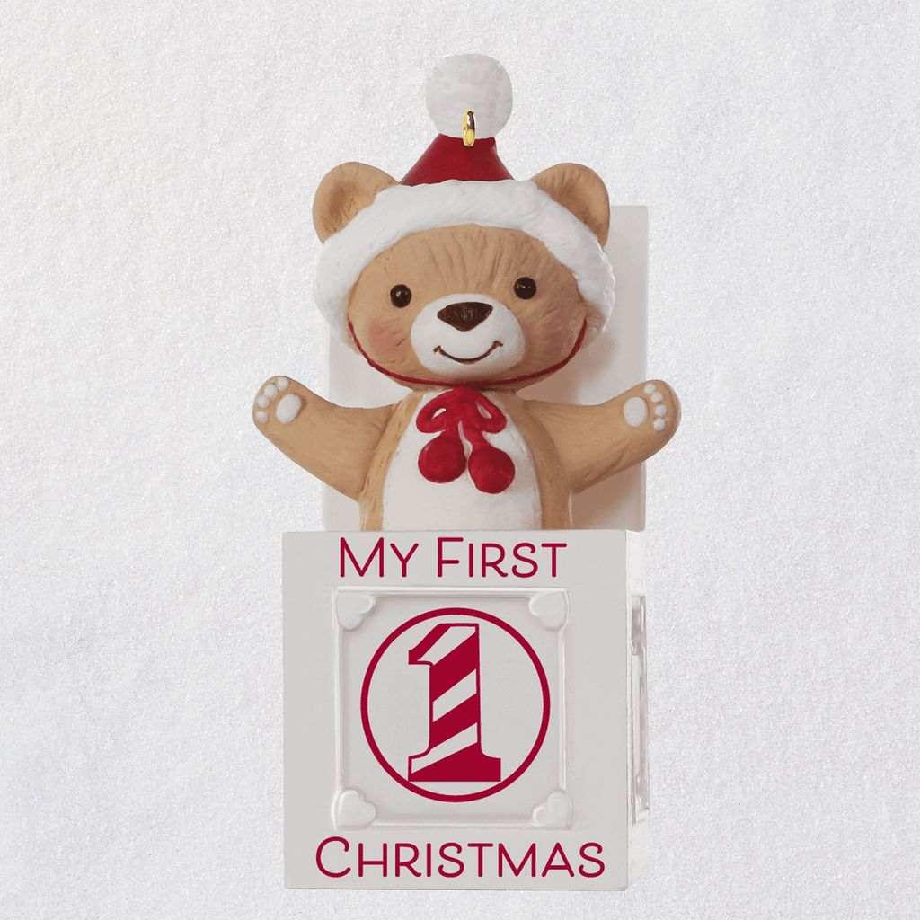 Christmas Bear.2019 My First Christmas Teddy Jack In The Box