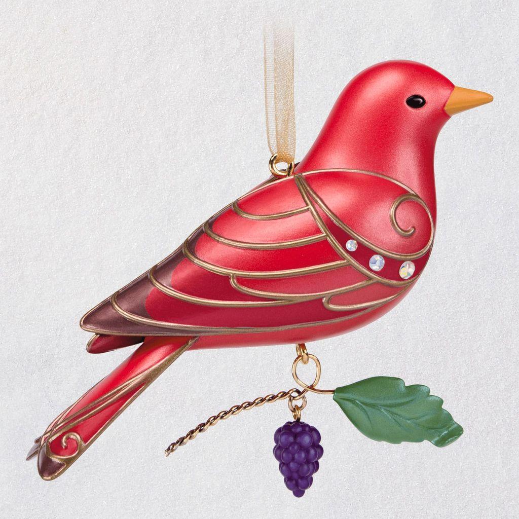 2019 Beauty Of Birds Summer Tanager Hallmark Ornament