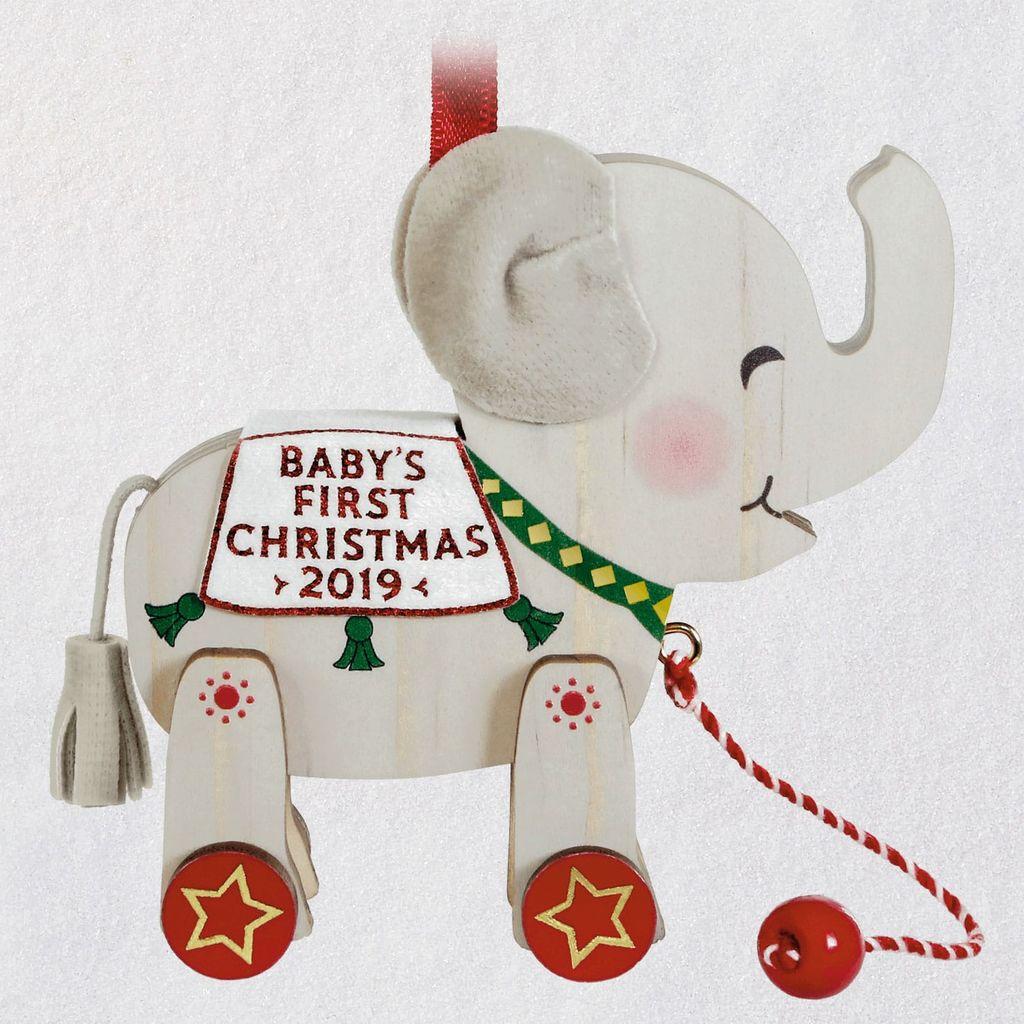 2019 Baby's First Christmas Elephant Hallmark Christmas ...