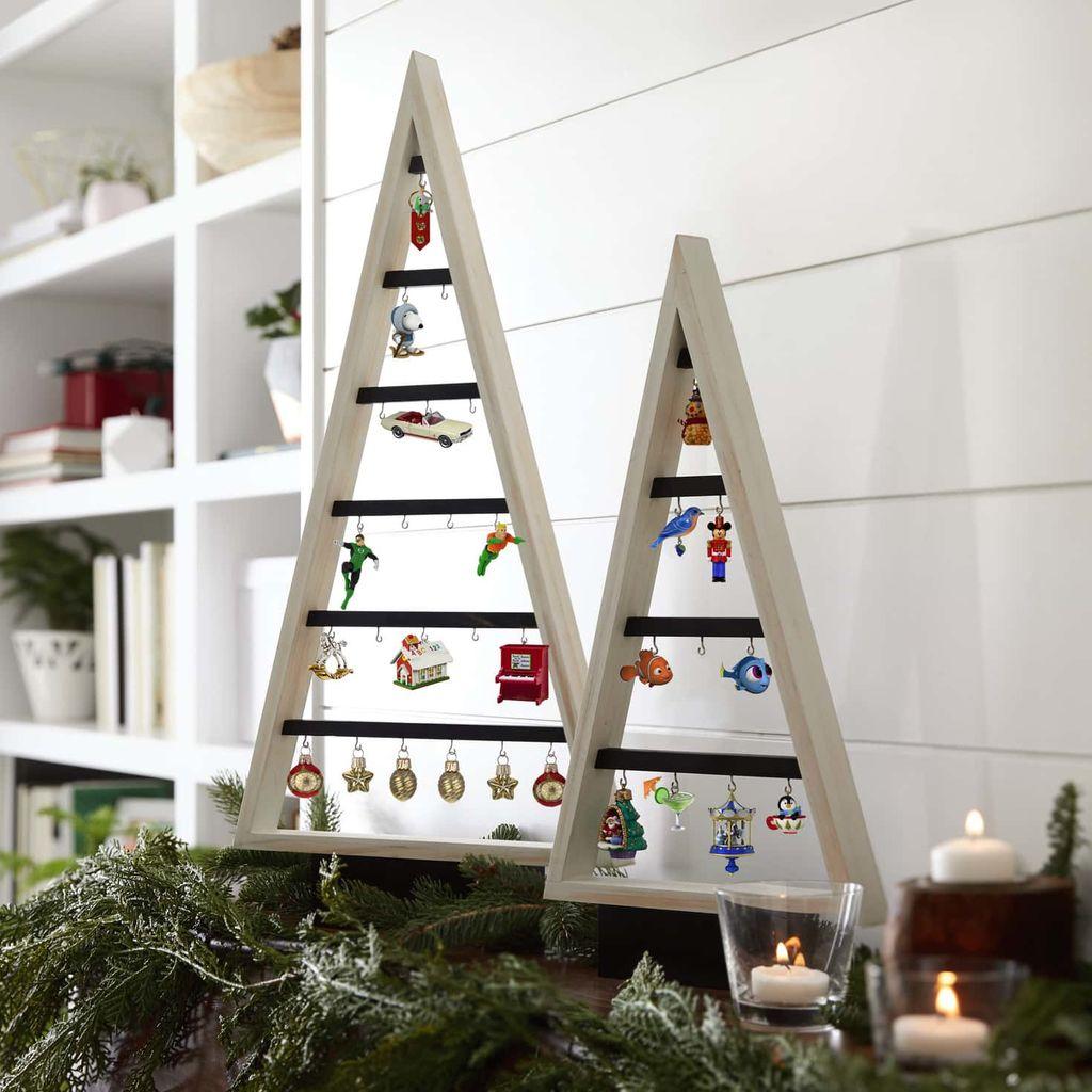 2019 Wooden Miniature Display Tree Hallmark Christmas ...