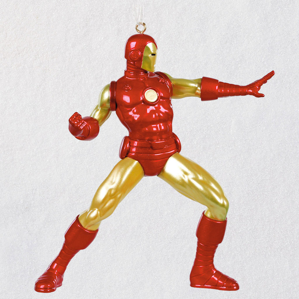 Marvel Christmas Tree.Hallmark Collectibles Iron Man Marvel Avengers Red Box 2018