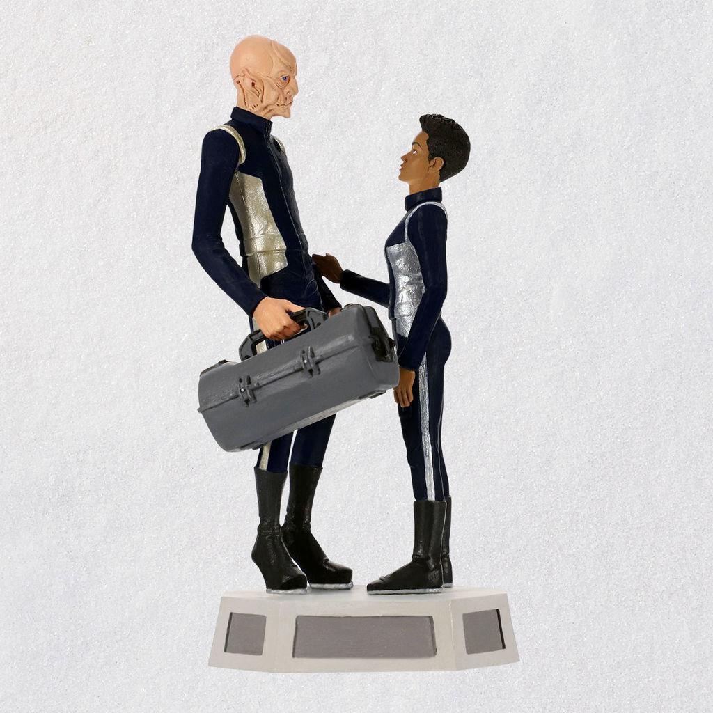 Star Trek Christmas Ornament 2019 2019 Commander Saru and Michael Burnhear Star Trek Hallmark