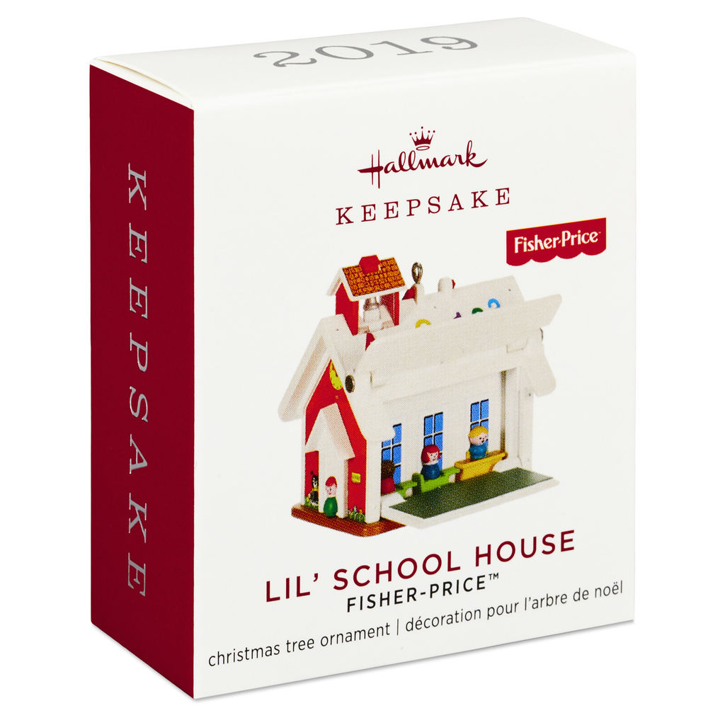 2019 Hallmark LIL/' SCHOOL HOUSE Fisher Price Miniature Ornament BRAND NEW MINT
