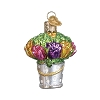2019 Easter Bucket of Flowers - Old World Christmas Blown Glass