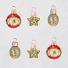 2019 Miniature Keepsake Ornament Set/6 Glass Baubles