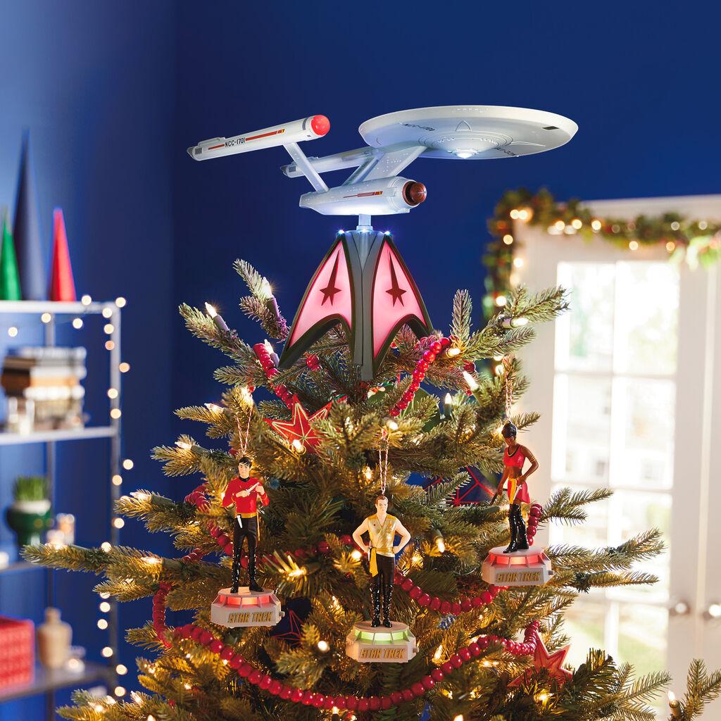 Star Trek Christmas Ornament 2020 2020 Star Trek USS Enterprise Tree Topper Hallmark Keepsake