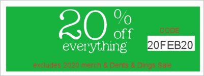 Save 20% Off your purchase