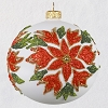 2020 Premium Poinsettia Ball - Blown Glass