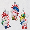 2020 Premium Snowman Trio - Blown Glass