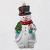2020 Premium Jolly Snowman - Blown Glass