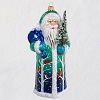 2020 Premium Santa of the Forest - Blown Glass