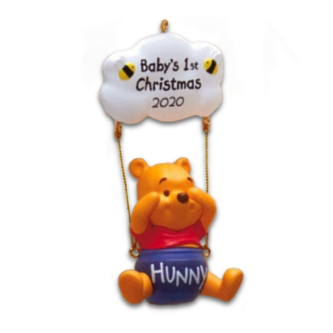2020 Christmas Winnie The Pooh 2020 Baby's First Christmas   Winnie the Pooh Hallmark Keepsake
