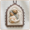 Willow Tree HOLY FAMILY - Metal-edged Ornament