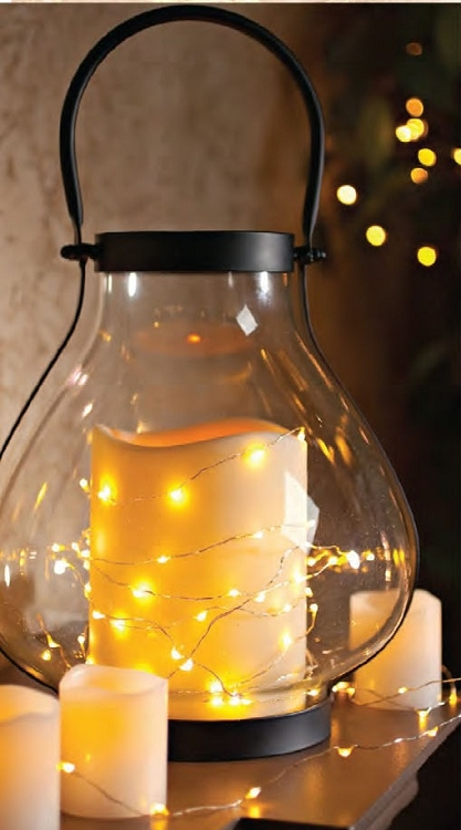 9 Foot Battery Operated Micro Led Light String With Timer