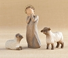 Willow Tree LITTLE SHEPHERDESS - Nativity Figurine