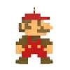 2020 Super Mario Bros -  8-Bit MARIO - MINIATURE - Avail OCT
