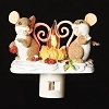 Charming Tails - Mice by Fire Flickering Nightlight