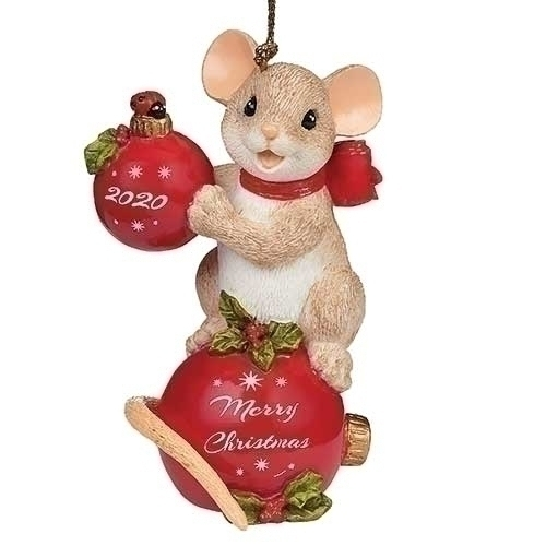Charming Tails Christmas 2020 Charming Tails   2020 Annual Dated Ornament by Dean Griff at