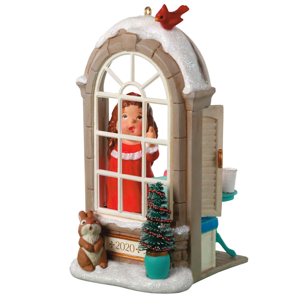 2020 Christmas Window Ornament 2020 Christmas Window Hallmark Club Ornament   Hooked on