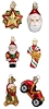 Christmas Assortment Set of 6 (set #2) - Old World Christmas Blown Glass