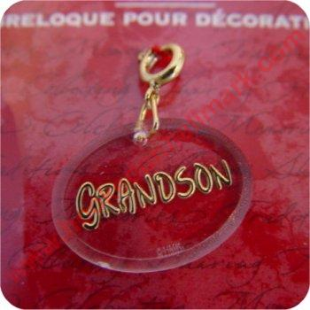 Grandson - Clip On Ornament Charm