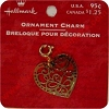 Brass Heart - Love - Clip On Ornament charm