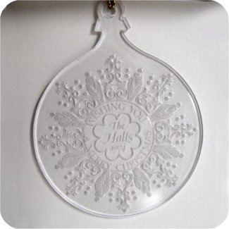 1974 Hall Family Ornament, #1 - No Card