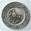 1977 Christmas Pewter Plate - #1 Partridge in a Pear Tree -  RARE