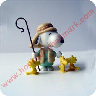 Peanuts Nativity - Shepherd and His Flock - Peanuts Gallery Figurine