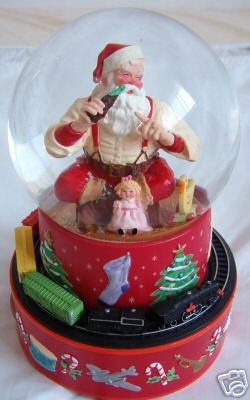 Coca Cola Santa Musical Snow Globe Motion Amp Music