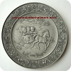 1986 Christmas Pewter Plate - Christmas Is Remembering Time - RARE