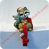 1982 Raccoon with Mouse - Stocking Hanger