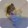 Sleeping Baby Bear, Stocking Hanger in orig box