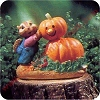 Building a Pumpkin Man - Tender Touches Figurine - Rare
