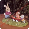 Bunny Pulling Wagon - Tender Touches Figurine