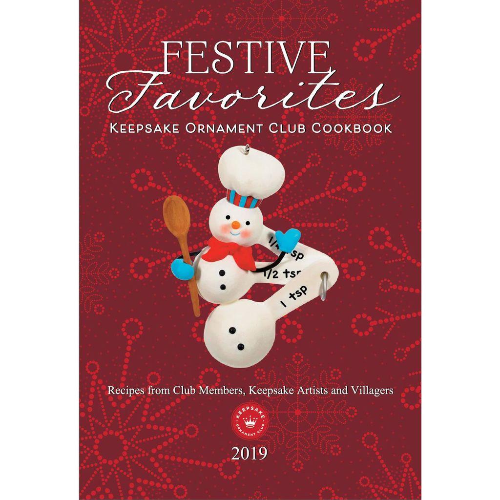2019 Keepsake Ornament Club Festive Favorites Cookbook Hooked On Hallmark Ornaments