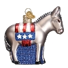Democratic Donkey- Old World Christmas Blown Glass