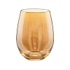 Hallmark Gold Crown Stemless Wineglass - Gold