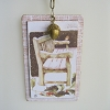Bench Chipboard Ornament - Marjolein Bastin - Nature's Journey