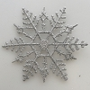 Glitter SILVER Snowflake Ornaments, set of 15