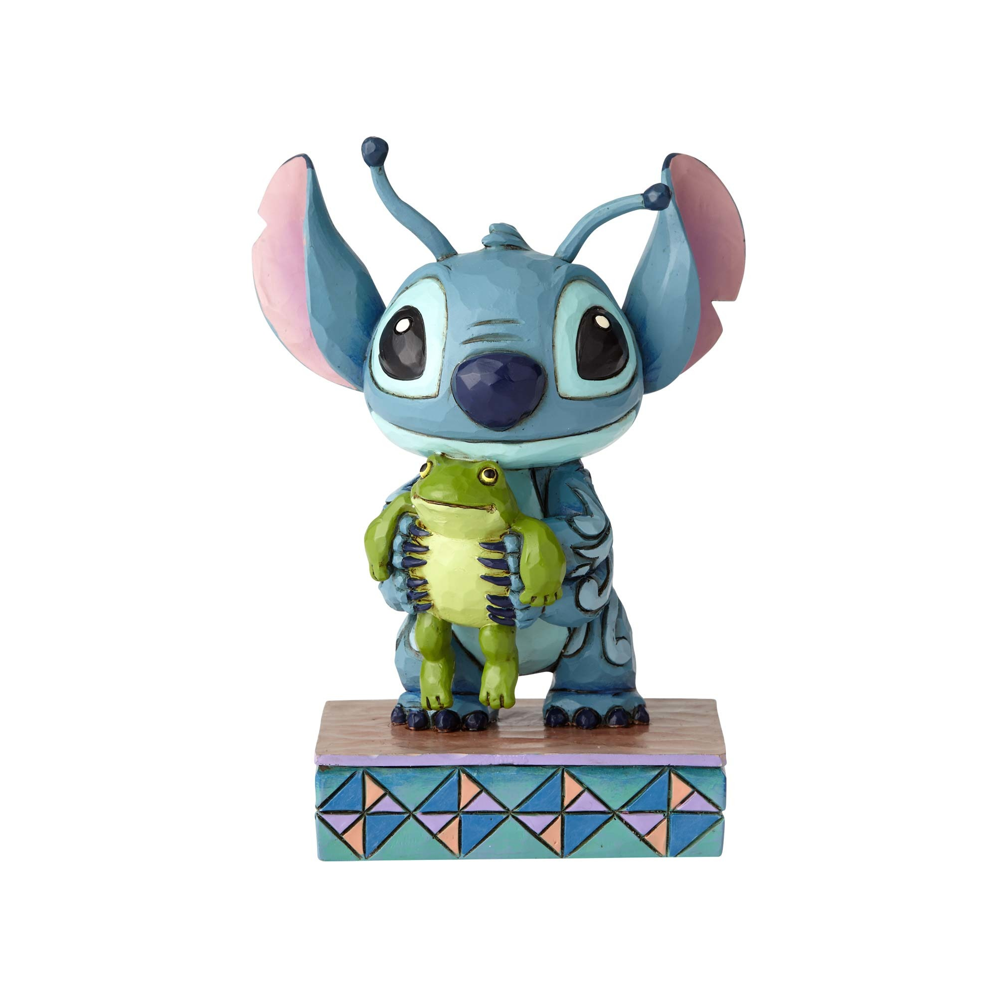 Stitch with Frog Figurine - Jim Shore Disney Traditions