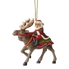 Santa Riding Moose - Jim Shore