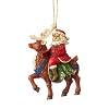 2019 Santa Riding Reindeer - Jim Shore Heartwood Creek