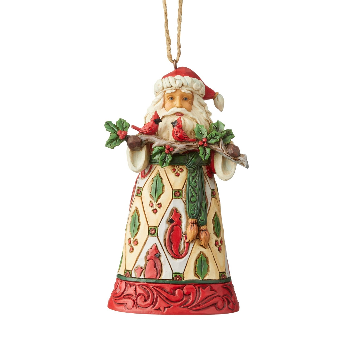 Jim Shore 2020 Christmas Ornament Santa with Cardinals Jim Shore Heartwood Creek Christmas Ornament